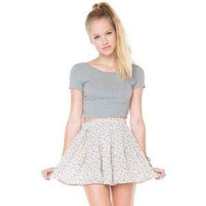 Brandy Melville Blue Floral Circle Skirt Elastic